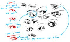Amazing Learn To Draw Eyes Ideas. Astounding Learn To Draw Eyes Ideas. Drawing Skills, Drawing Poses, Drawing Techniques, Drawing Tips, Drawing Ideas, Anatomy Reference, Drawing Reference, Drawing Face Expressions, Realistic Eye Drawing