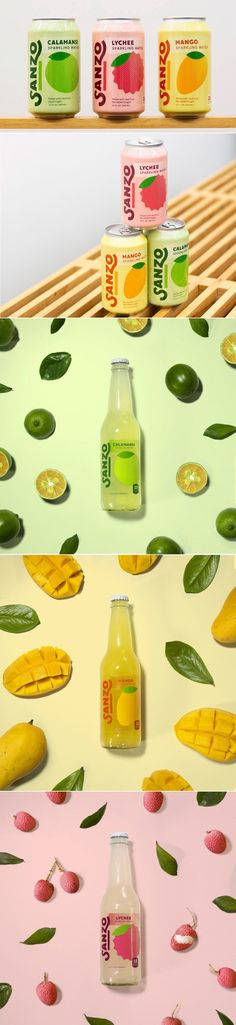 Sanzo Brings Asian Fruit Flavors To Sparkling Water Market | Dieline