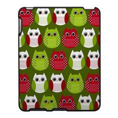 Owl iPad Case (Green Background) #iPad