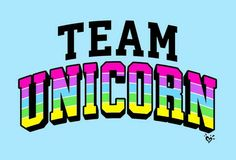 Team unicorn banderín idea