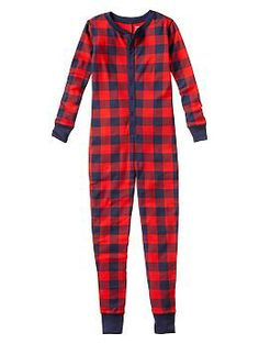 buffalo check one piece pajama