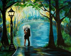 Couple In Love Couple Painting Couple by LeslieAllenFineArt, $15.00