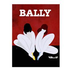 Bally Lotus Vintage Poster Print - hardtofind.