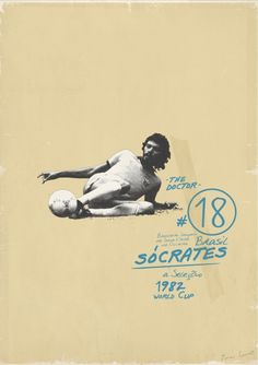 Socrates by Zoran Lucic  Sucker For Soccer - Euro 2012  #zoranlucic #football #soccer