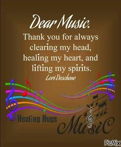 Music is always there for us.