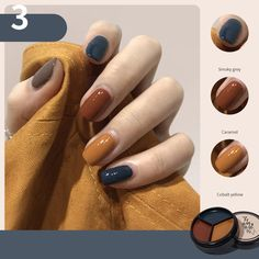 Three-Color Solid Glue UV Polish 2022 Canned Autumn and Winter Popular Color Nail OST1002
