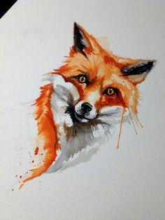 fox illustration tattoo