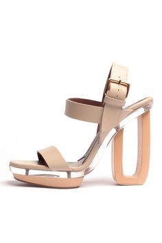 powerful neutral Marni Shoes, Leather Heels, Shoe Art, Chunky Heels, Shoe  Closet 9efdbb8053a9