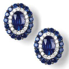 """Frome"" Diamond & Gemstone Earrings - Diamond & Gemstone Earrings | Earrings | Diamond Jewellery"