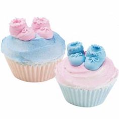 Baby Booties! Perfect for a baby shower cupcake order I have coming up!