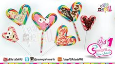 (Day 1) Valentine's Day Chocolate&Candy Lollipop / (Día 1) Paleta de car...