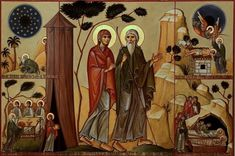 Religious Icons, Religious Art, Abraham And Sarah, Love Scriptures, Christian Friends, Byzantine Icons, Orthodox Icons, May 1, Vinyl Wall Art
