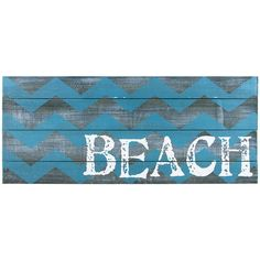 Ohio Wholesale, Inc. Chevron Weathered Beach Sign (€22) ❤ liked on Polyvore featuring home, home decor, wall art, wooden home decor, distressed home decor, weathered wood wall art, wood wall art and distressed wood wall art