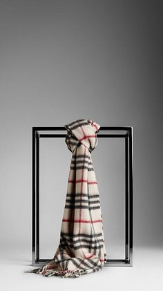 """Burberry """"Trench Check"""" Cashmere Scarf high price but I think I can find some lower rate!"""