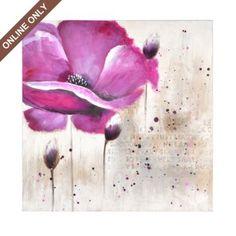 Floral Script Canvas Art Painting