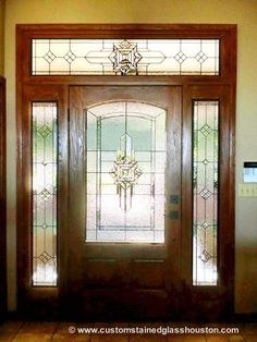 Browse the beautiful stained glass window gallery at Scottish Stained Glass San Antonio. We offer a great selection of custom windows. Stained Glass Door, Custom Stained Glass, Stained Glass Designs, Stained Glass Patterns, Leaded Glass, Mosaic Glass, Glass Art, Beveled Glass, Front Door Design Wood
