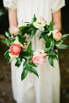 Bouquet Inspiration: Boho floral crown #flowers #headpiece #boho #alternative   Photo by: Spindle Photography on Southern Weddings