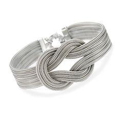 Italian Woven Sterling Silver Knot Bracelet