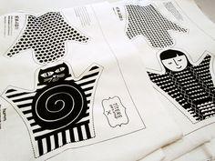 titeres para armar serigrafiados,  DIY puppets, screenprinted hand made puppets, pupazzi fai da te