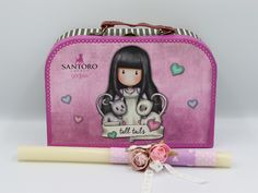 Santoro πασχαλινή λαμπάδα για κορίτσια, annassecret, Χειροποιητες μπομπονιερες γαμου, Χειροποιητες μπομπονιερες βαπτισης