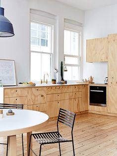 Plywood kitchen - very lovely!