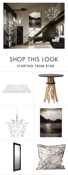 """""""Industrial Modern"""" by debraelizabeth ❤ liked on Polyvore featuring interior, interiors, interior design, home, home decor, interior decorating, Matta, Ampersand, Marvel and ferm LIVING"""