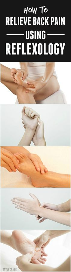 Suffering from a terrible backache? Did you know that pressing certain targeted nerves on your hands and feet can ease your pain? #fitness #backpain
