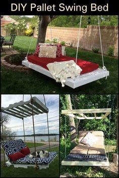 Outdoor Furniture Doesn't Get Much Better And Cheaper Than This! Make Your Own Pallet Swing Bed