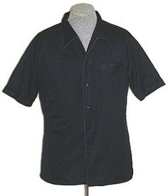 1970s Black Vintage Disco Shirt XL | NeldasVintageClothing - Clothing on ArtFire