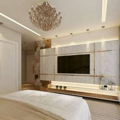 Home Interior Decoration .Home Interior Decoration Bedroom Tv Unit Design, Living Room Tv Unit Designs, Luxury Bedroom Design, Family Room Design, Luxury Interior, Modern Bedroom, Bedroom Rustic, Contemporary Bedroom, Home Design