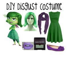 """DIY Disgust Costume (Inside Out)"" by alove1812 ❤ liked on Polyvore featuring Disney, Barneys New York, Oscar de la Renta, Laura Mercier and ItsHalloweenWithAubrey"