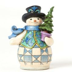 2014 Jim Shore, Evergreen Ever Jolly - Pint Sized Snowman Figure (Pre-Order Item. Mid-June Delivery)