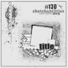 Sagapo-Scrap : Le blog ! : Trésors de Noël : défi sketchabilities #130
