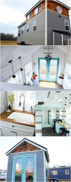 Gorgeous 285 Square Foot Mustard Seed Tiny House f…