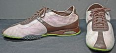 Cole Haan Air Nike Pastel Pink Suede & Brown Leather Fashion Sneakers Shoes 10 B #ColeHaan #FashionSneakers