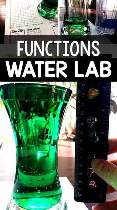 This water lab is a super fun way to introduce nonlinear functions in an algebra class. The math department at my school uses this lab as a way to start the school year in Algebra The students… Algebra 2 Activities, Algebra Projects, Math Games, Teaching Math, Math Lessons, Math Tips, Math Resources, Teaching Ideas, Stem Projects