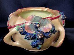 Amphora Blueberry Bowl Circa 1892 to 1910 on Etsy, $155.00