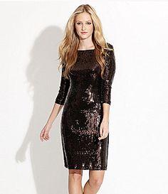 Adrea pinned 'Christmas Party - Karen Kane Boatneck Sequin Dress #Dillards'