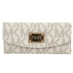 Michael Kors Women's Signature Vanilla Slim Flap Wallet for only $120.91 You save: $37.09 (23%)