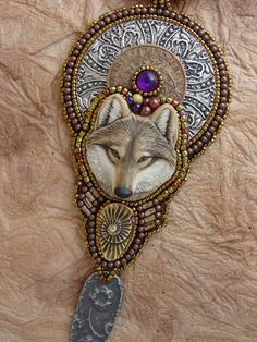RESERVED FOR ISABELLE Wolf Necklace by HeidiKummliDesigns on Etsy