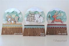 More snowglobe cards using acetate