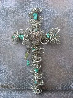 Wire & bead cross