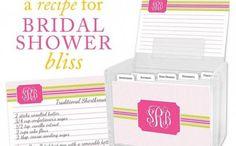 Bridal Shower Recipe Box