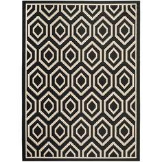 Safavieh Courtyard Honeycomb Black/ Beige Indoor/ Outdoor Rug (9' x 12') (CY6902-266-9), Size 9' x 12' (Polypropylene, Geometric)