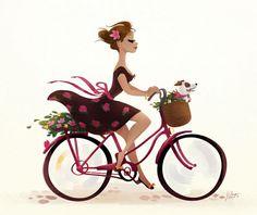 Angel Wings Wall Art, Painted Bags, Bicycle Art, Digital Art Tutorial, Cute Images, French Art, Character Illustration, Funny Comics, Bike Life