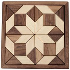 "Camden Rose Maple & Walnut 2-Sided Wood Mosaic Puzzle, 11.5"" Square by Camden Rose. $59.99. Lovely square puzzle with geometric pieces. 11.5"" x 11.5"" x 1"". Double sided maple and walnut puzzle pieces. Made in the USA. Gorgeous geometric mosaic puzzles feature multiple hardwoods. Triangles, squares and diamonds are arranged in a pleasing geometric form. You may also use the individual puzzle pieces to create tanagrams."