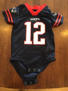 1f7041573  NFL New England  Patriots Jersey Onsie Size 6-9 Month from  5.0 Jersey