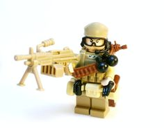 Military Army Soldier made with Lego Minifigure Parts and Custom Pieces by BrickEclipse