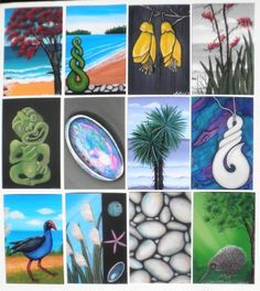 Prints of my Original Paintings by Astrid Rosemergy - I love her art & have bought some for gifts, for me next time I'm thinking :) Pictures To Paint, Painting Pictures, New Zealand Art, Nz Art, Kiwiana, Painting Inspiration, Original Paintings, Symbols, The Originals