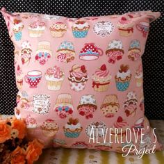 Jual Shabby Cupcake cushion cover / sarung bantal (cover only) - Alverlove's Project | Tokopedia
